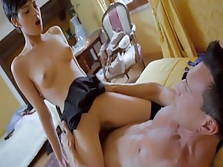 Old and Young Riding Student Teacher Teen