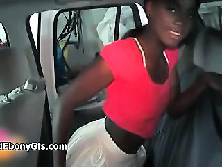 Car Cute Ebony Homemade Teen