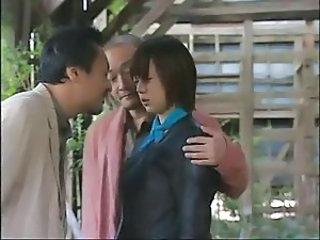 Asian Japanese Outdoor Threesome