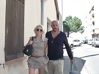 French MILF Outdoor Public