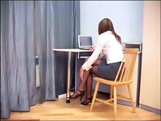 Office Pantyhose Secretary