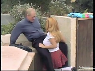 Daddy Daughter Old and Young Outdoor Student Teen