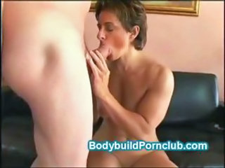 Sexy babe takes her personal trainers big cock and warm load