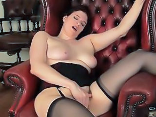 Chubby Masturbating MILF Orgasm Stockings
