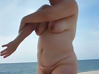 Amateur Beach Chubby Nudist Outdoor Wife