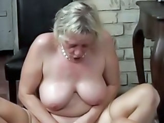 Big Tits Granny Riding Stockings