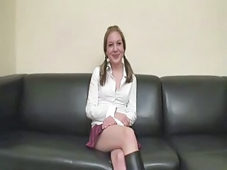 Casting European German Pigtail Teen