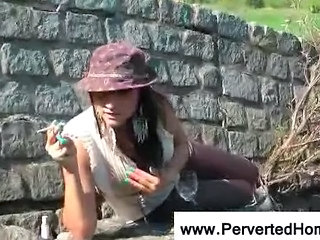 Outdoor Smoking Teen