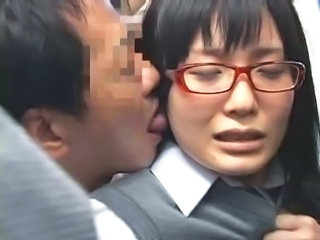 Asian Forced Glasses Japanese Public Student