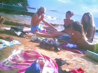 Beach Bikini Outdoor Teen Voyeur