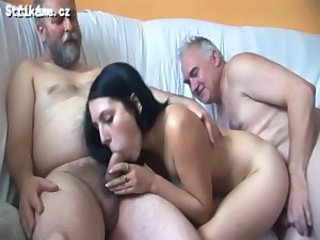 Blowjob Daddy Family Old and Young Teen Threesome