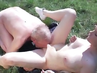 Daddy Daughter Licking Old and Young Outdoor Teen
