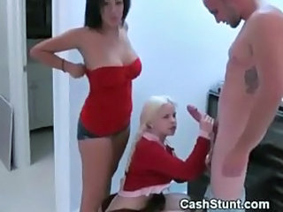 Big cock Cash Handjob Teen Threesome