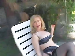 Big Tits Lingerie Mature Outdoor Stockings