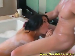 Babe Bathroom Blowjob