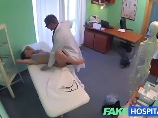 FakeHospital Gorgeous young pole dancer with hot body swallows the doctors...