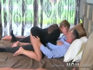 MOM Mature Brunette rides his cock free