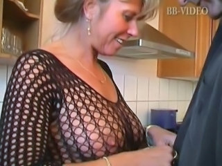 Kitchen Lingerie Mature Mom