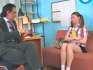 Cute Daddy Old and Young Pigtail Student Teacher Teen