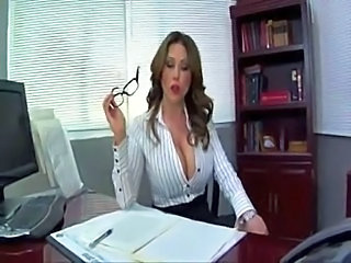 Amazing Big Tits Glasses MILF Office Secretary Silicone Tits