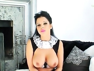 Babe Big Tits Cute Maid Natural Uniform