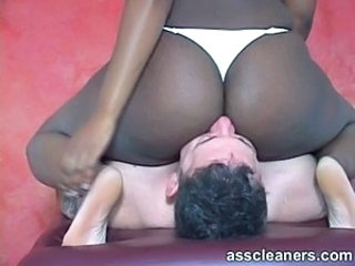 Ass Ebony Facesitting Interracial Licking