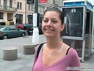 Amateur Brunette European Outdoor Pov Public Teen