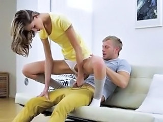 Clothed Riding Skinny Teen
