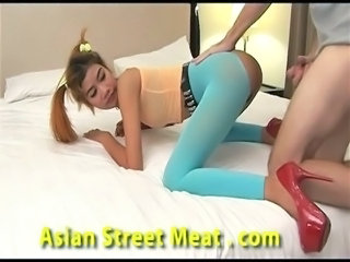Amazing Asian Pantyhose Teen Thai
