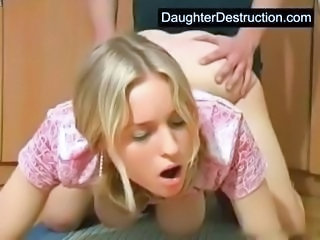 Cute Daughter Doggystyle Teen Young