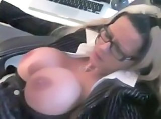Big Tits German Glasses MILF Silicone Tits