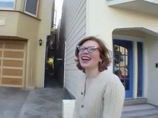 Glasses Outdoor Public Redhead Teen