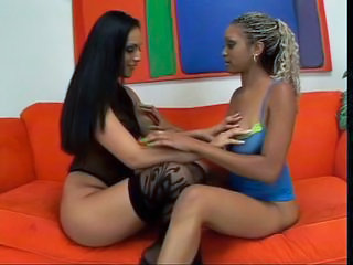 Amazing Dildo Facesitting Lesbian Stockings