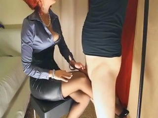 Blowjob Clothed Corset Stockings