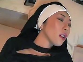 Asian Babe Masturbating Nun Teen Uniform