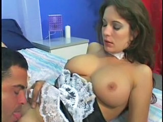 Big Tits Licking Maid MILF Uniform