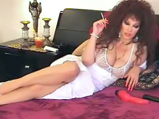 Amazing Big Tits MILF Natural Smoking