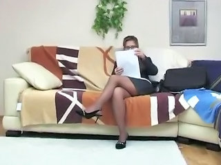 Glasses Legs MILF Stockings Teacher
