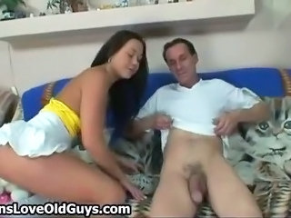 Horny Old Man Loves To Lick A Cute