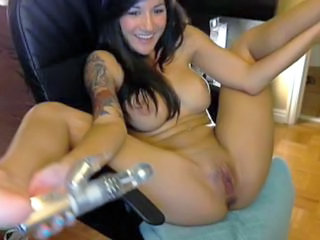 Masturbant Cony En solitari Tatuatge Adolescent Joguina Webcam