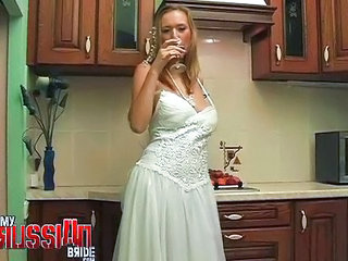 Bride Drunk Kitchen MILF Russian