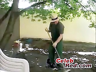 Gardener Fucks Bored Housewife