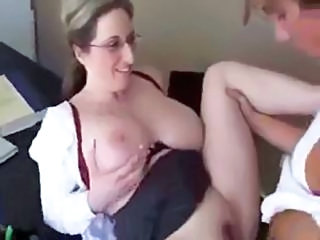Big Tits Glasses MILF Mom Natural Old and Young Teacher