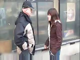 Daddy Old and Young Outdoor Public Teen