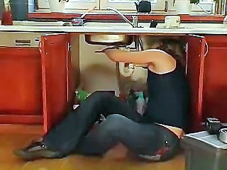 Mature Housewife Attacks The Plumber