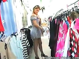 MILF Public Stockings