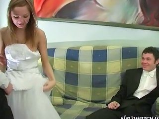 Bride Cuckold Teen Threesome