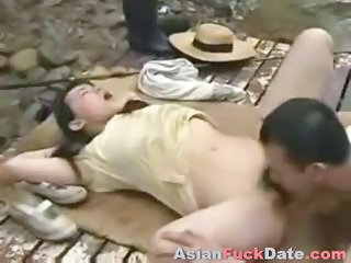 Asian Chinese Licking Outdoor Public Teen