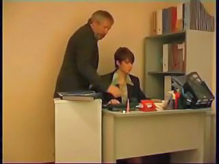 Amateur Daddy Office Old and Young Secretary Teen