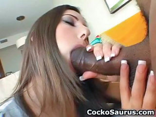 Big cock Blowjob Interracial Pornstar